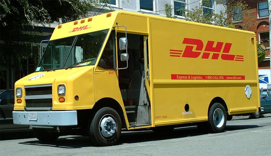 DHL kamion za prevoz pošiljki