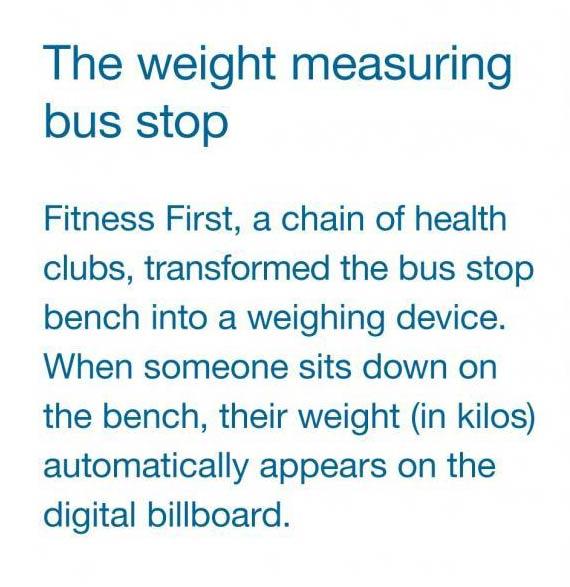 Engleski tekst opisuje reklamiranje Fitness First