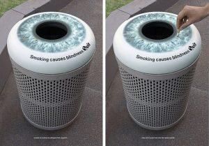Gašenje cigare na oku kante: reklamiranje Quit