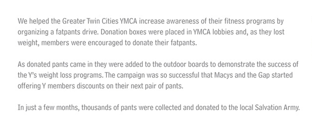 Kampanja fatpants drive firme YMCA na engleskom - reklamiranje