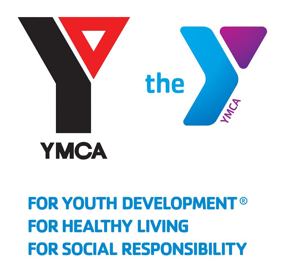 Levo bivši znak i logo, desno sadašnji a ispod je slogan firme YMCA