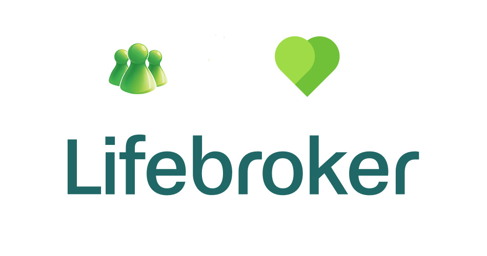 Levo je bivši znak, desno je sadašnji a ispod je logo firme Lifebroker