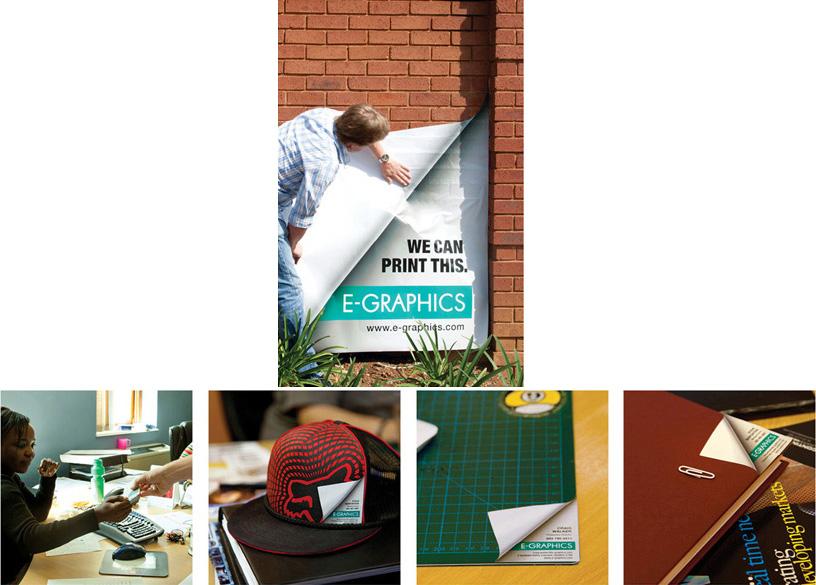 Odštampana kapa i korice dokumenata sa podvijenim ćoškovima - reklamiranje firme eg plus
