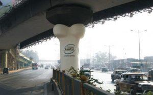 Ogromna bela kost na sredini Priyadarshini raskrsnice: reklamiranje