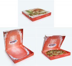 Pizza kutija otvorena usta: reklamiranje Colgate-Palmolive firme