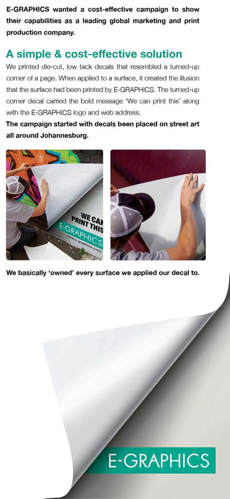 Postavljanje odštampanih nalepnica ulične umetnosti sa presavijenim ćoškovima - reklamiranje firme eg plus