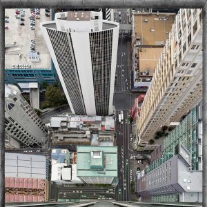 Poster pogled sa vrhova zgrada Auckland Novi Zeland