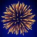 Poster sa novogodišnjim vatrometom Barilinih špageta