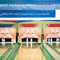 Staze za kuglanje sa keglama kao zubima u ustima - reklamiranje firme kqi - slicica