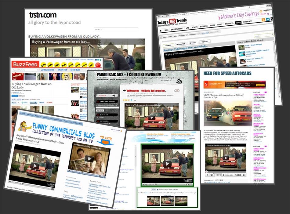 Trstn, Todays Hot Trends, BuzzFeed,... magazini vesti: reklamiranje firme Volkswagen