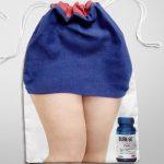 Vrh torbe sužen devojka u struku vitka - reklamiranje GNC firme - sličica