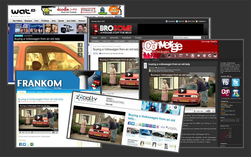 Wat, Brosome, Frankom,... magazini vesti: reklamiranje firme Volkswagen
