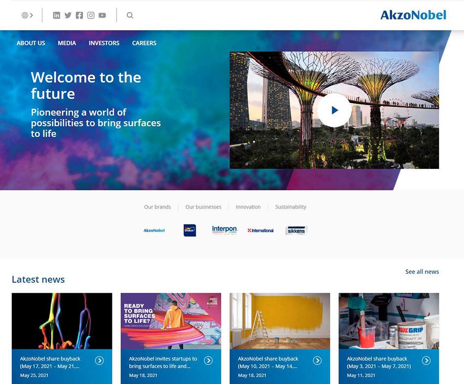 Web sajt AkzoNobel firme