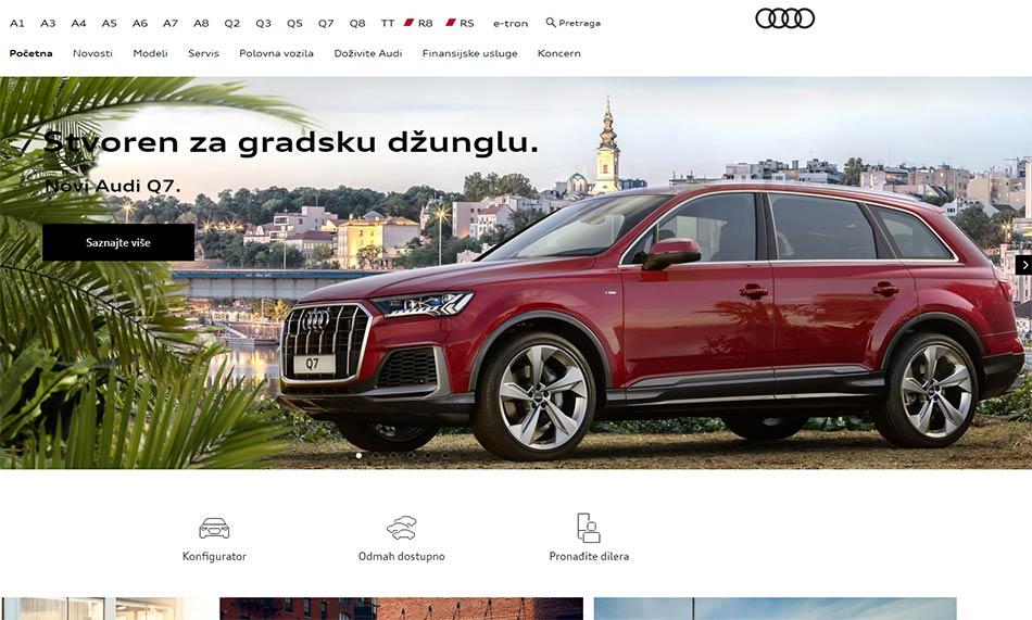 Web sajt Audi firme