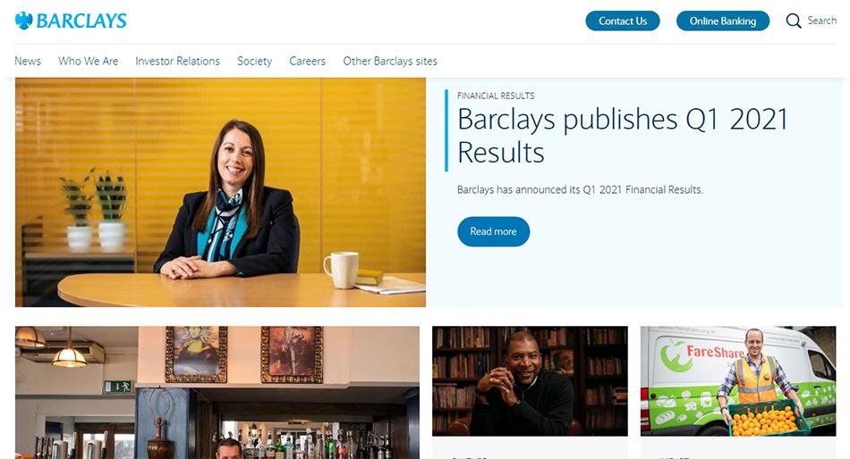 Web sajt Barclays firme