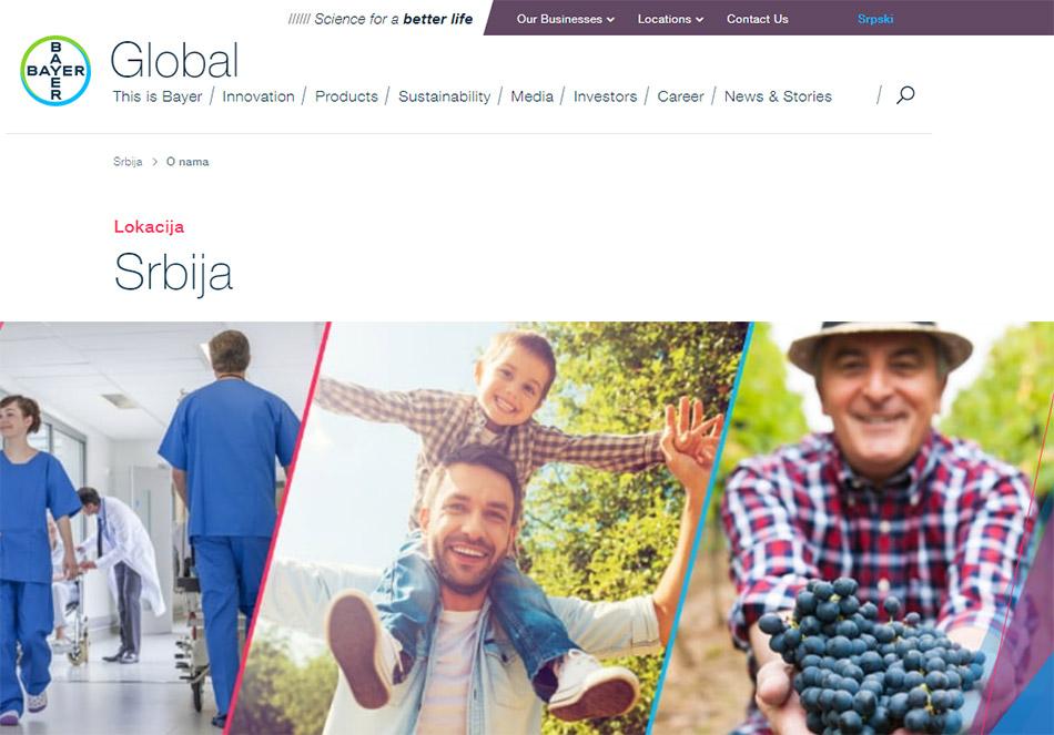 Web sajt Bayer firme