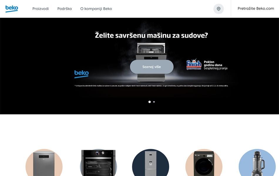 Web sajt Beko firme