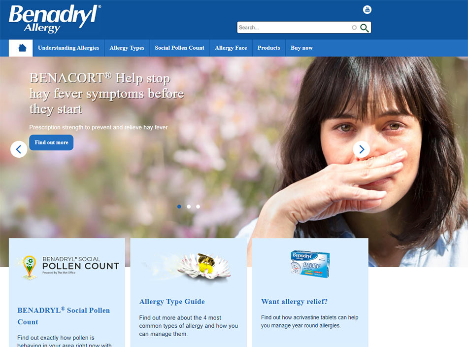 Web sajt Benadryl brenda