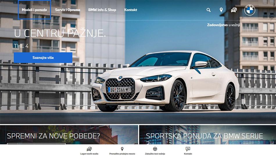 Web sajt BMW firme