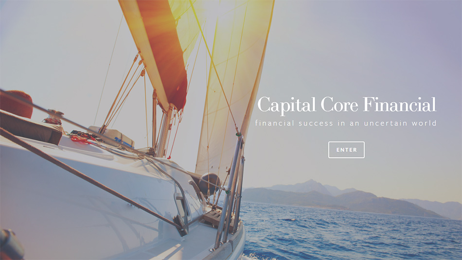 Sadašnji web sajt Capital Core Financial firme