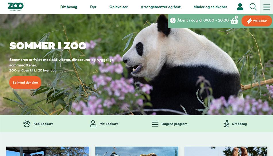 Web sajt Copenhagen Zoo firme