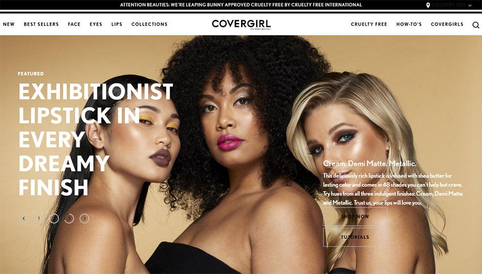Web sajt CoverGirl firme
