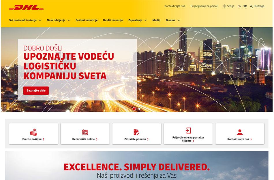 Web sajt DHL firme