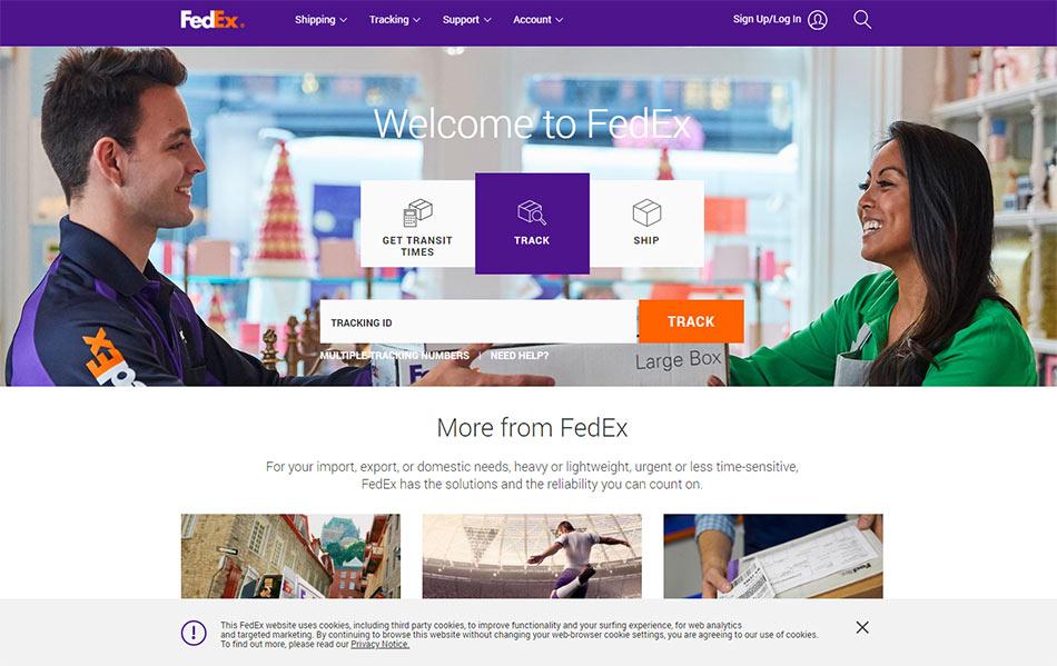 Web sajt Fedex firme