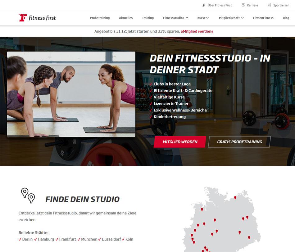 Web sajt Fitness First