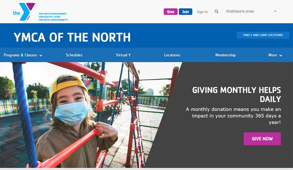 Web sajt firme YMCA