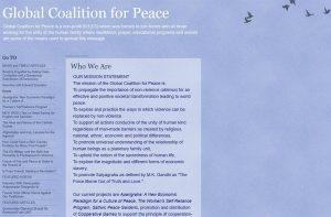 Web sajt Globalne Koalicije za Mir
