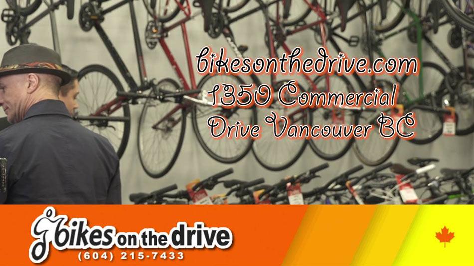 Web sajt, ulica i mesto firme Bikes on the drive