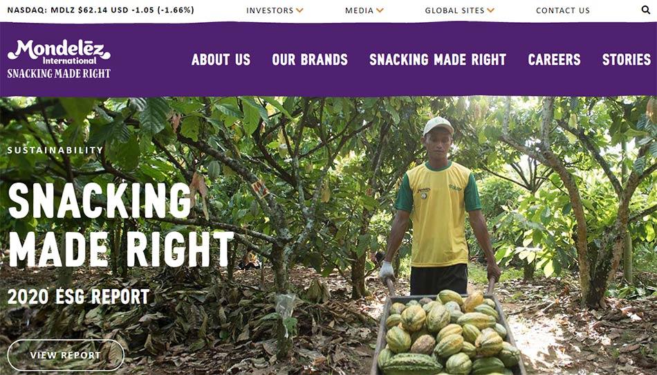 Web sajt Mondelez International firme
