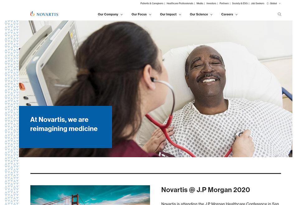Web sajt Novartis firme