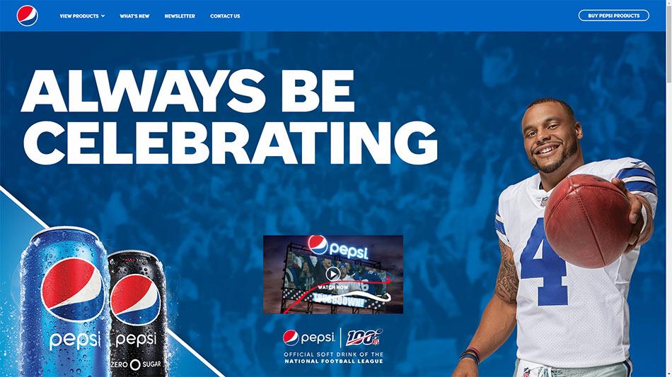 Web sajt PepsiCo firme