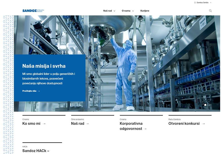 Web sajt Sandoz firme