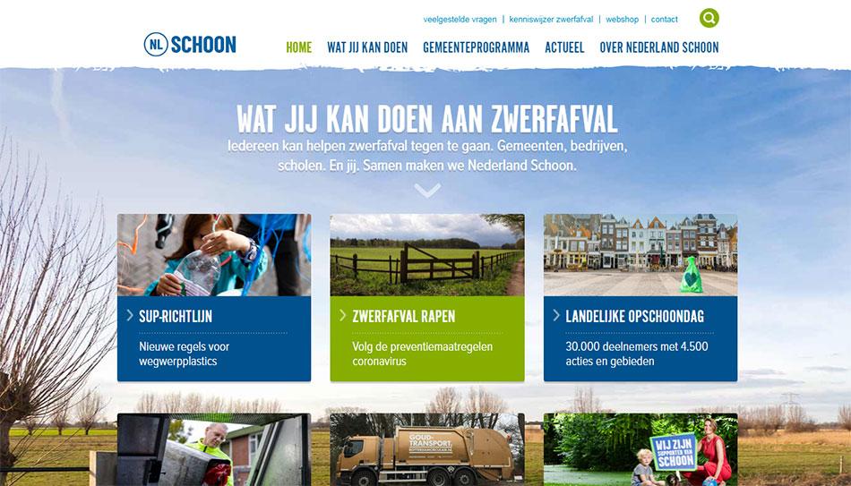 Web sajt Stichting Nederland Schoon