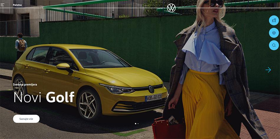 Web sajt Volkswagen firme